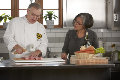 Certified Master Chef Ron DeSantis and Angelita Zynda during the latest episode of Cooking & Culture, a video series by Hormel Foods.