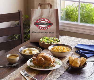 Guests nationwide can now order Boston Market rotisserie favorites such as Family Meals online for delivery or curbside pickup.