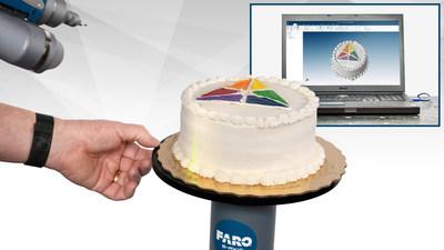 A criação de nuvens de pontos coloridos 3D é um trabalho muito simples com o FARO® Quantum ScanArm e o Prizm™ Laser Line Probe.