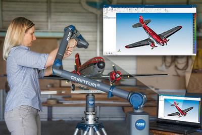 Com a sonda de linha a laser FARO® Prizm™, é possível a digitalização em cores 3D de alta resolução para uma visualização vívida e realista e a reconstrução CAD das peças.