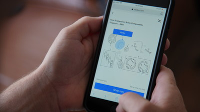 """Use eBay's latest feature, """"Shop by Diagram,"""" which makes it easy to find any auto part -- even if a shopper doesn't know the part's name or part number-- by making your car's schematic diagrams interactive."""