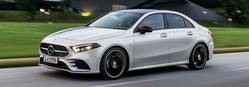 The 2019 A-Class Sedan is a compact, four-door model that is ultra modern.