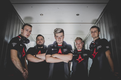 The Astralis CS:GO team with the new Turtle Beach Elite Atlas PC gaming headset.