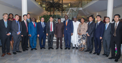 Nigerian Vice President Yemi Osinbajo met with NetDragon founder and chairman Liu Dejian