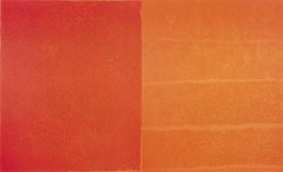 Françoise Sullivan, Hommage to Paterson [Hommage à Paterson], diptych, 2003Acrylic on canvas. 137 x 226 in. Photo: Guy L'Heureux / Galerie Simon Blais © Françoise Sullivan / SODRAC (2018) (CNW Group/Musée d'art contemporain de Montréal)