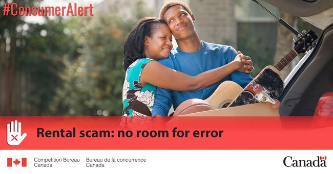 School might not have started yet, but do your homework and learn to recognize rental scams. (CNW Group/Competition Bureau)
