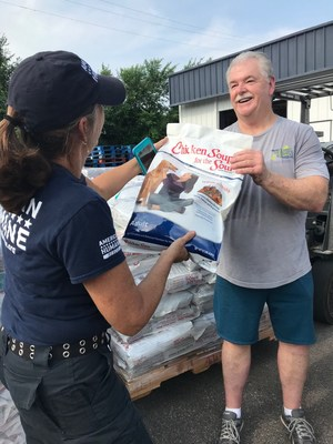 American Humane and Chicken Soup for the Soul Pet Food Deliver 6-1/2 Tons of Love to Animals in Need