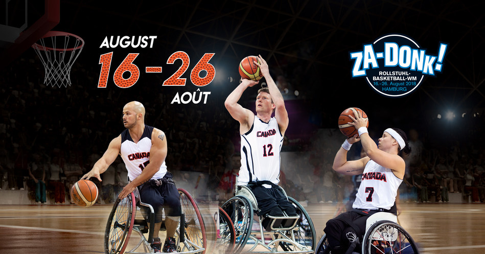The Canadian men's and women's wheelchair basketball teams kick off their world championship campaigns August 17, with the tournament running through August 26 in Hamburg, Germany. (CNW Group/Canadian Paralympic Committee (Sponsorships))