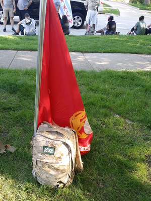 ruck gear of US Marine Corps veteran, Robert Morales