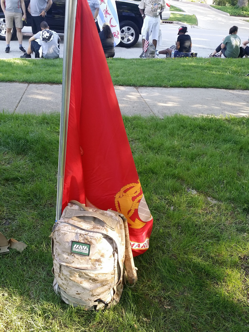 ruck gear of US Marine Corps veteran, Robert Morales
