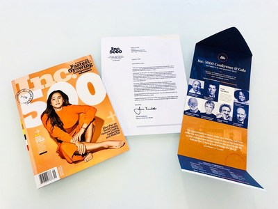 Pictured: Inc 5000 Awards Press Release Kit. 