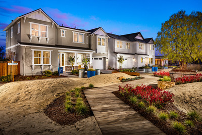 New homes within neighborhood Seagrass at Trumark Homes' Newark-based community, Glass Bay.