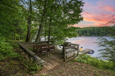 Many lake front properties have docs for jet skis, boats & sitting to watch the sunsets.