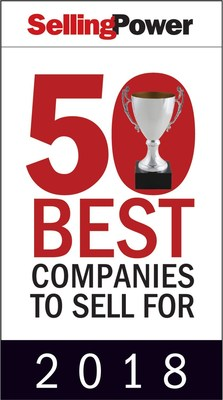 Recognized by Selling Power as one of the nation's 50 Best Companies to Sell For in 2018.