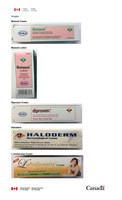 Unauthorized skin creams and lotions sold at various retailers in Quebec (CNW Group/Health Canada)