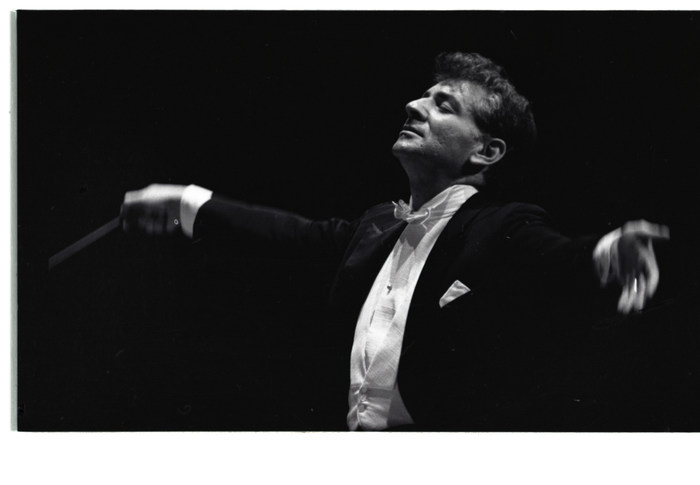 Maestro Leonard Bernstein, 1961. Photo: Don Hunstein, courtesy SONY Classical.