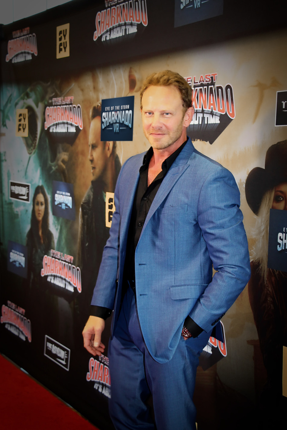 Autumn VR revealed Sharknado VR: Eye of the Storm at Syfy Channel's Sharknado 6 movie premier in Los Angeles with cast member, Ian Ziering.