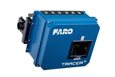O Projetor Laser FARO® TracerSI: Projetor Laser 3D com tecnologia avançada de imagens a laser para montagem e verificação guiadas durante o processo.