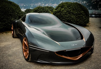 Genesis Essentia Concept ready for its US concours debut.