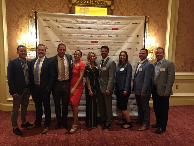 Members of the LGCY Power team, led by CEO Doug Robinson (middle) attending the Fast 50 awards banquet at the Grand America Hotel in downtown Salt Lake City, Utah. This is the second year in a row that LGCY Power has been named one of the fastest growing companies in Utah.
