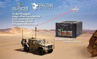 Systel's best-in-class mission computer, Falcon-Strike, ideal for Counter-UAS applications