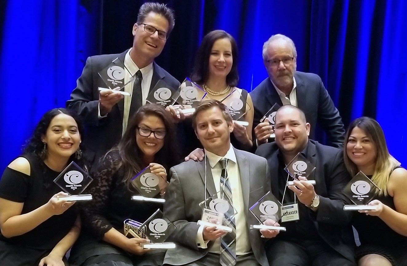 Lifestyle Media Group poses with their awards.