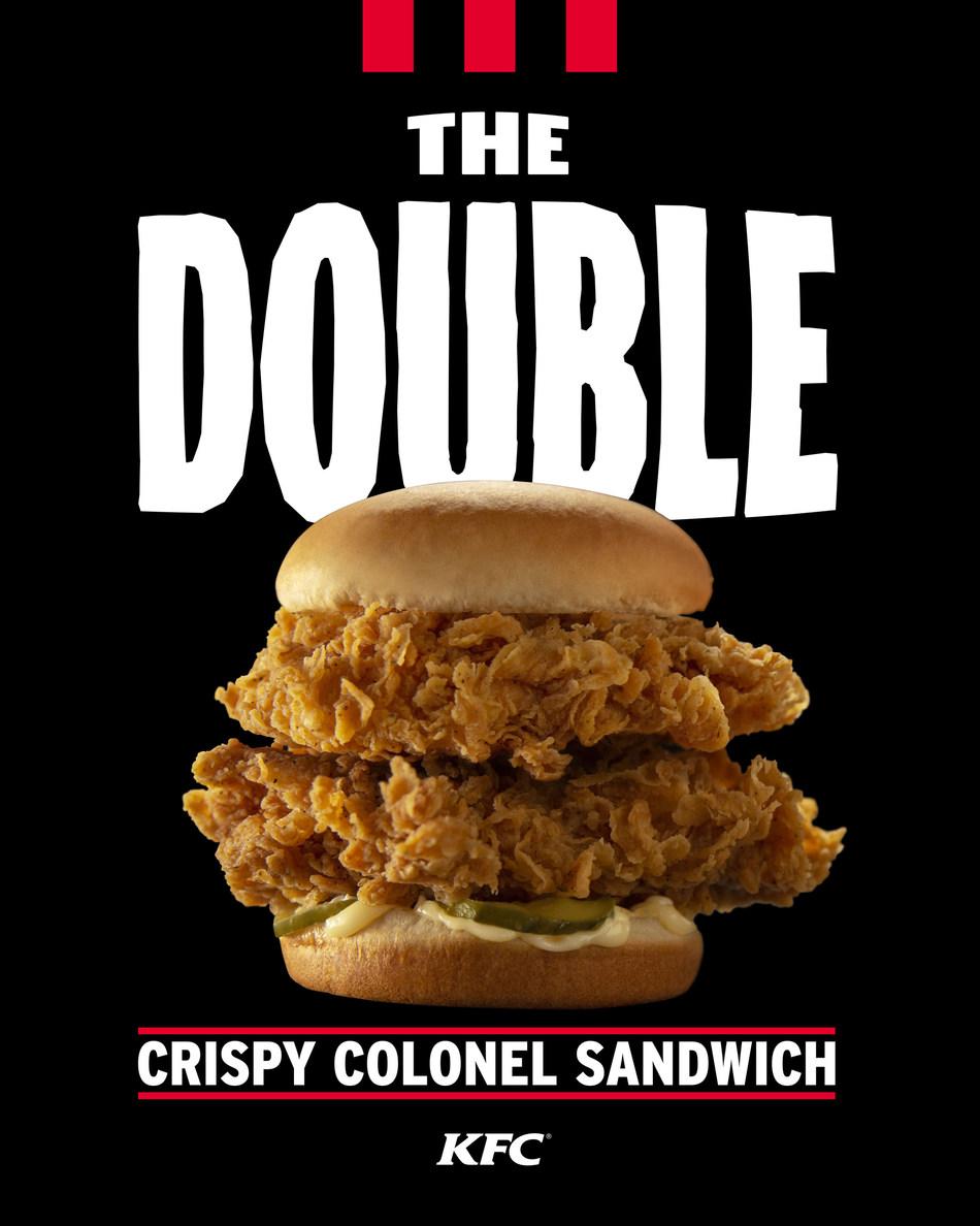 KFC launches new Double Crispy Colonel sandwich (PRNewsfoto/KFC)