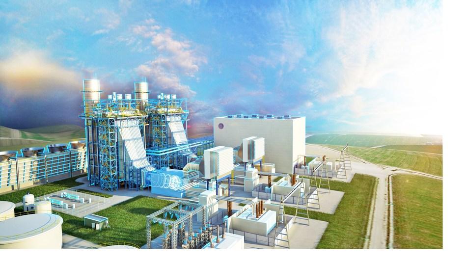Artist rendering of DTE Energy's Blue Water Energy Center