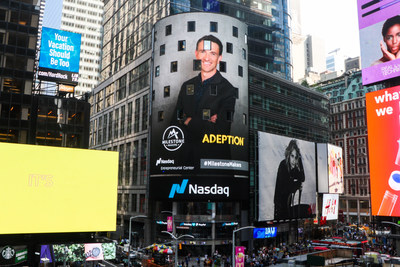 Carl Sanders-Edwards, founder of the New Zealand leadership development platform Adeption, rang the NASDAQ stock exchange bell to celebrate his graduation from NASDAQ Milestone Makers. Carl's photo and the Adeption logo were displayed on Times Square at the same time.