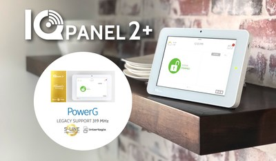 IQ Panel 2 Plus supports Dual SRF featuring PowerG's industry leading range, remote programming and encryption with a radio compatible with Qolsys S-Line encrypted sensors and other legacy sensors that utilize the 319.5 MHz protocol.  The IQ Panel 2 Plus ships with Qolsys' 2.2 software, including several new features like Live View, the ability to view Alarm.com video cameras on the screen; Live Answer, giving end users the ability to answer their SkyBell Video Doorbell from the IQ Panel's 7