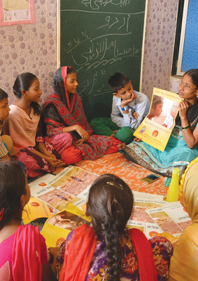 Pratham's programmes to teach Indian's underprivileged children basic literacy and numeracy in the Learning Camps