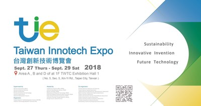 "The 2018 ""Taiwan Innotech Expo"" focuses on innovative technologies from the 5+2 Industrial Transformation Plan, features three Expo parks with themes of ""Future Technology"", ""Innovative Invention"", and ""Sustainability"", and invites Southeast Asian, European, American, and Japanese organizations to participate and exhibit with the goal of promoting Taiwan to be the major platform for international R&D exchanging."