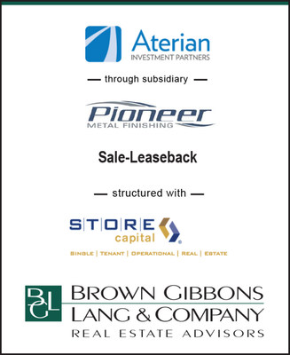 BGLREA is pleased to announce the financial closing of the sale-leaseback of five manufacturing plants with over 286,366 of NNN space (The Project).  The Project was owned by Pioneer Metal Finishing, LLC (Pioneer), a leading provider of outsourced anodizing, plating, hardcoat, adhesive, electroless nickel, and other value-added surface treating services in North America.