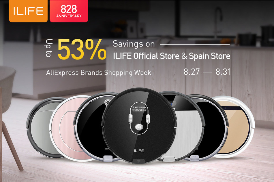 ILIFE Celebrates AliExpress Brands Shopping Week with up to 50% Savings on Its Robot Vacuums