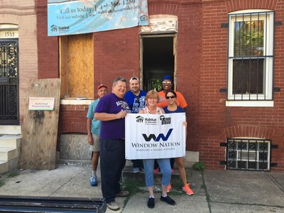Window Nation is kicking-off its partnership with Habitat for Humanity with a day of service for employees to participate in local builds in the cities they have a presence. Last week, five Window Nation employees plus a Habitat for Humanity volunteer helped build a home in Baltimore.