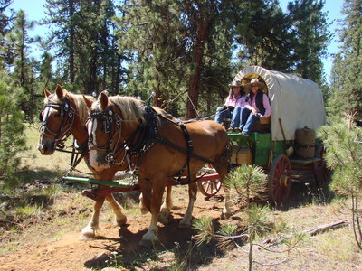 Your covered wagon awaits. Take a ride with Travel Oregon and Lyft on the Oregon Trail Experience happening Aug. 28-31 in downtown Portland, Oregon.