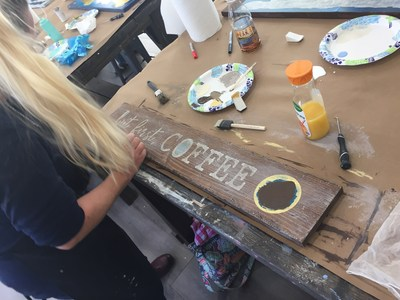 Injured veterans created one-of-a-kind artwork as part of a woodworking class organized by Wounded Warrior Project® (WWP).
