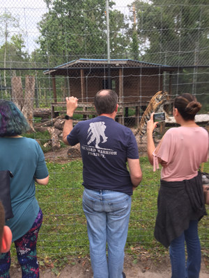 Wounded warriors and their families connected with each other at Catty Ranch in Jacksonville.