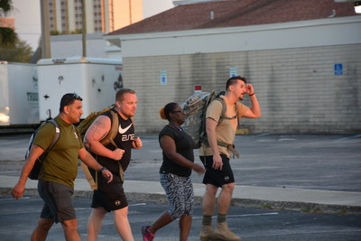 Veterans bonded over teamwork and the challenge of a ruck march.