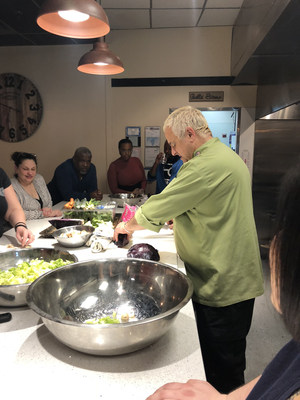 Wounded warriors and their guests crafted healthy salads and soups and had a chance to learn from expert chefs during a Wounded Warrior Project® (WWP) cooking demonstration.