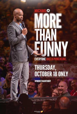 See Michael Jr's MORE THAN FUNNY in U.S. cinemas October 18.