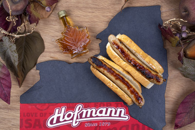 The maple syrup infused, hand-crafted Hofmann breakfast sausage on at bun, only at The Great New York State Fair.