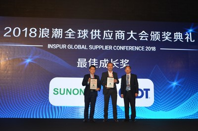 IDT Wins Prestigious Inspur Best Support Award 2018 - Award Received in Recognition of Excellent and Consistent Performance and for Supporting Technology Leadership in Timing and PCIe Gen3 Retimer Development.  Elie Ayache, Senior Director of Marketing for Timing Products, accepted the award on behalf of IDT, presented by Liang Kong, Information VP, Inspur.