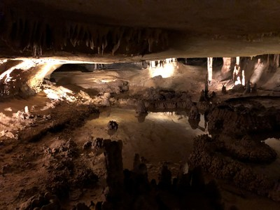 Warriors explored the Marengo Cave during a Wounded Warrior Project event