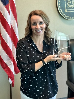 The 5G Wireless Champion Award recognizes Mayor Daniels' leadership in making Gilbert the first community in Arizona to streamline the ability of wireless companies to deploy small cells - next-generation 5G wireless infrastructure – in accordance with Arizona House Bill 2365.