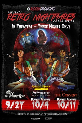Five cult-horror classics return to movie theaters nationwide beginning this September as part of the Retro Nightmares cinema series.