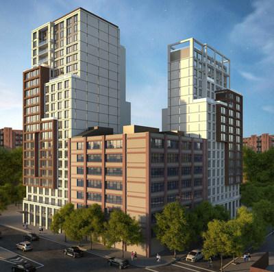 Rendering of Proposed Buildings at 202 Tillary Street in Brooklyn