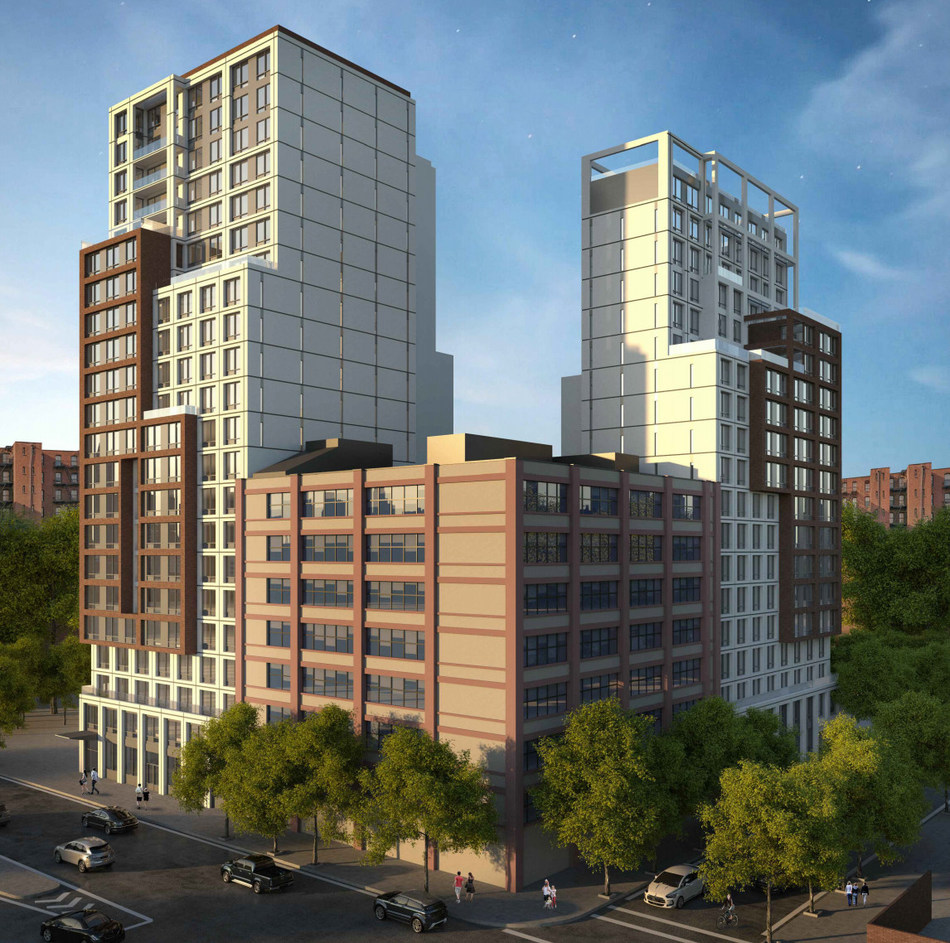 Rendering of Proposed Buildings at 202 Tillary Street in Brooklyn