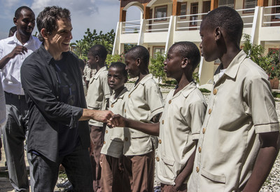 Ben Stiller, seen here at the Academy for Peace and Justice, will serve as co-host for the 2018 APJ Festival Gala in Toronto (CNW Group/Artists for Peace and Justice (APJ))