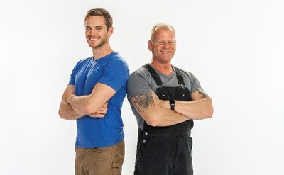 From left to right: Mike Holmes Jr. and Mike Holmes. Photo Credit: Courtesy of HGTV Canada (CNW Group/Corus Entertainment Inc.)